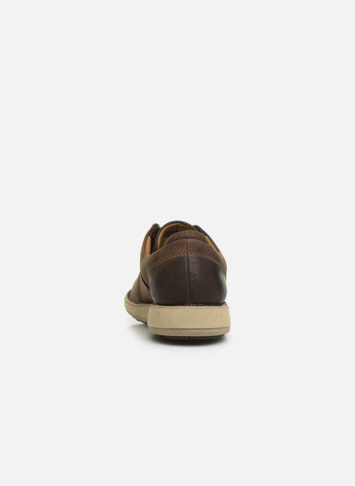 Sneaker Clarks Unstructured Un Larvik Lace braun ansicht von rechts