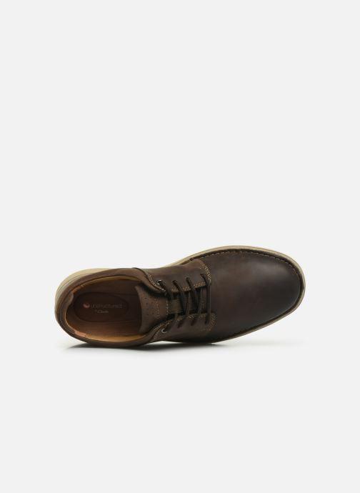 Sneaker Clarks Unstructured Un Larvik Lace braun ansicht von links
