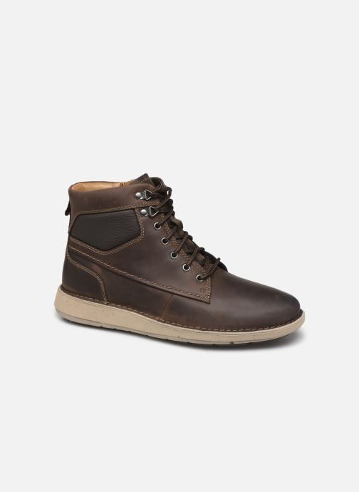 Bottines et boots Clarks Unstructured Un Larvik Peak Marron vue détail/paire