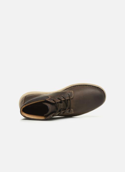 Boots en enkellaarsjes Clarks Unstructured Un Larvik Top Bruin links