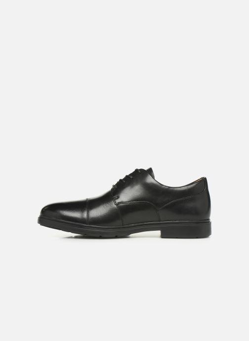 Zapatos con cordones Clarks Unstructured Un Tailor Cap Negro vista de frente