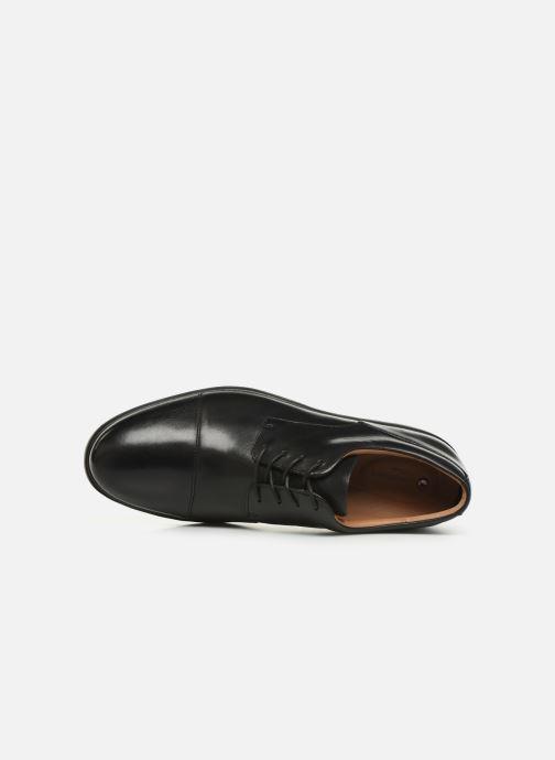 Zapatos con cordones Clarks Unstructured Un Tailor Cap Negro vista lateral izquierda