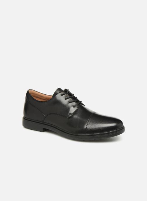 Zapatos con cordones Clarks Unstructured Un Tailor Cap Negro vista de detalle / par