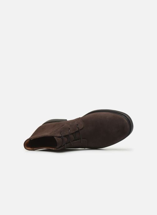 Ankle boots Clarks Unstructured Un Tailor Mid Brown view from the left
