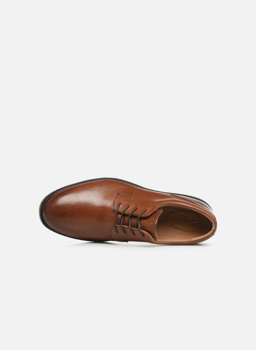 Chaussures à lacets Clarks Unstructured Un Tailor Tie Marron vue gauche