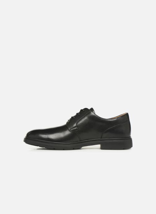 Zapatos con cordones Clarks Unstructured Un Tailor Tie Negro vista de frente