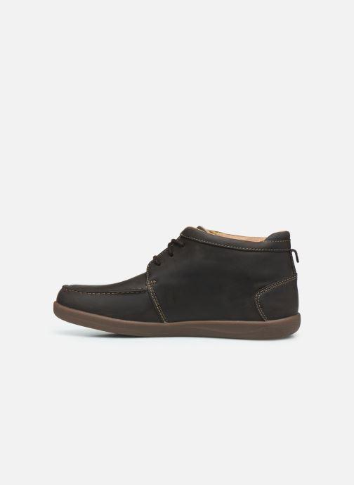 Boots en enkellaarsjes Clarks Unstructured Un Lisbon Up Bruin voorkant