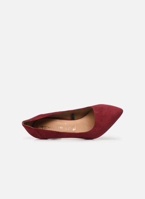 Zapatos de tacón Tamaris Catherine Vino vista lateral izquierda