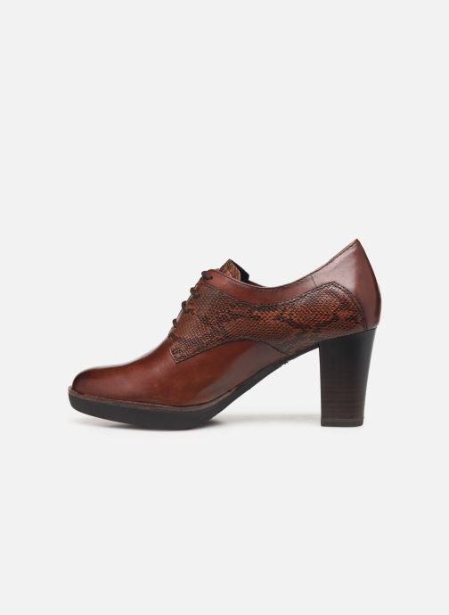 Lace-up shoes Tamaris NAMU NEW Brown front view