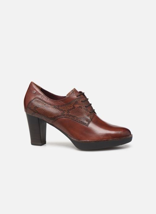 Lace-up shoes Tamaris NAMU NEW Brown back view
