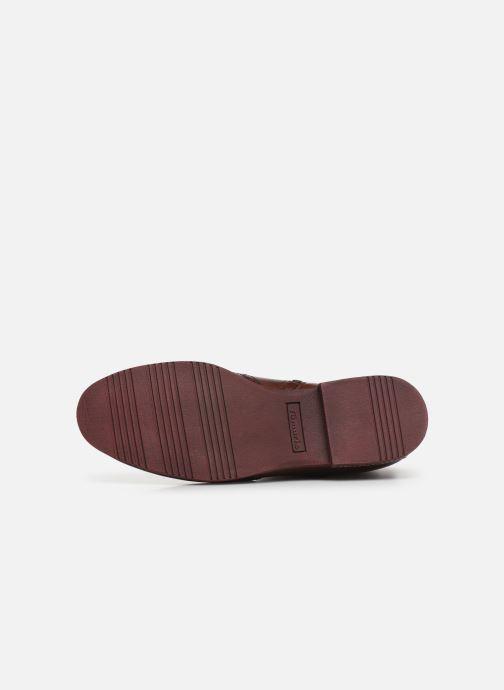 Bottines et boots Tamaris Luis Bordeaux vue haut