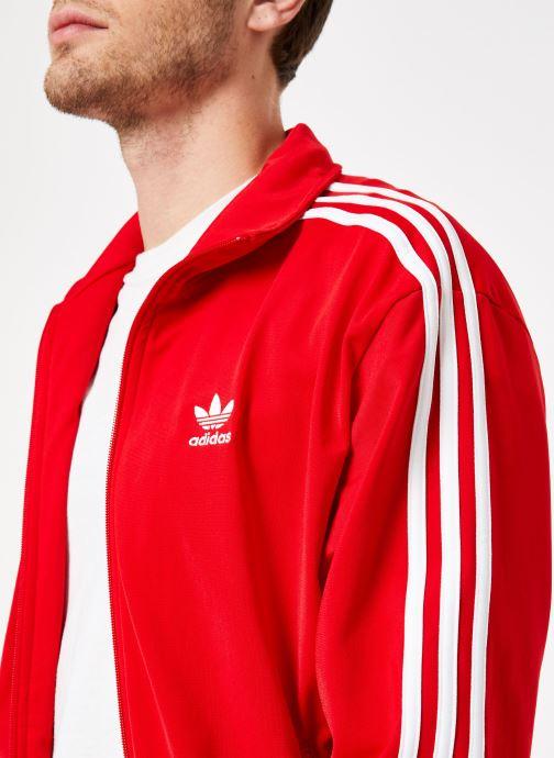 Vêtements adidas originals Firebird Tt Rouge vue face