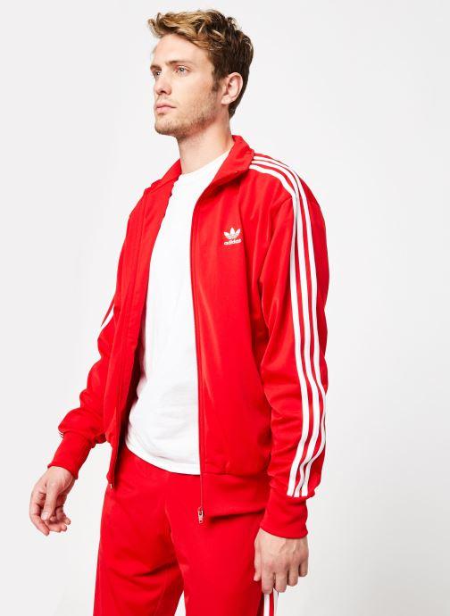 Vêtements adidas originals Firebird Tt Rouge vue droite