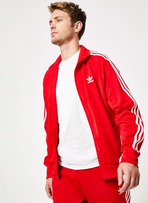 Vêtements adidas originals Firebird Tt Rouge vue détail/paire