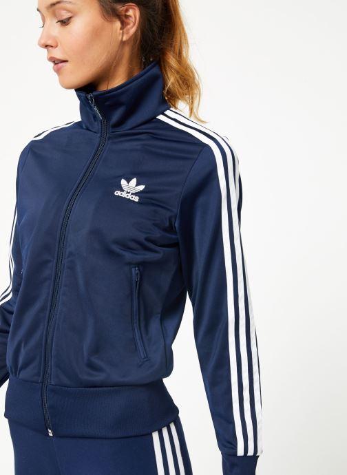 Kleding adidas originals Firebird Tt Blauw detail