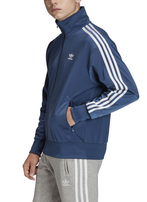 Vêtements adidas originals Firebird Tt Bleu vue face