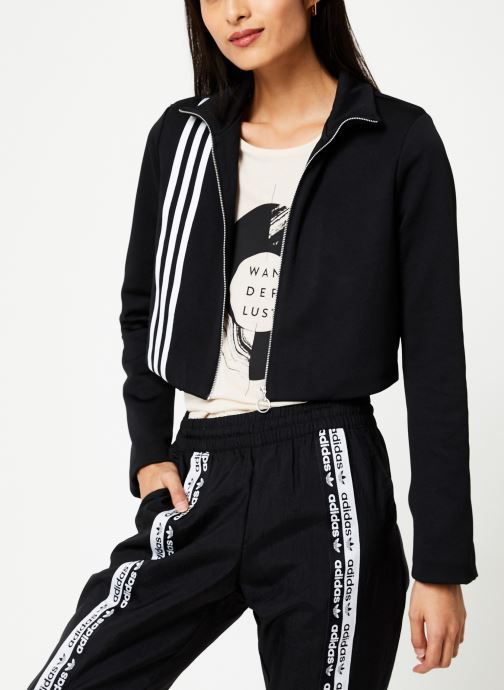 Vêtements adidas originals Tlrd Track Top Noir vue droite