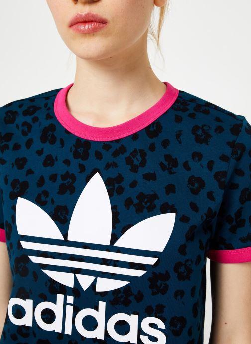 Vêtements adidas originals Aop Tee Bleu vue face