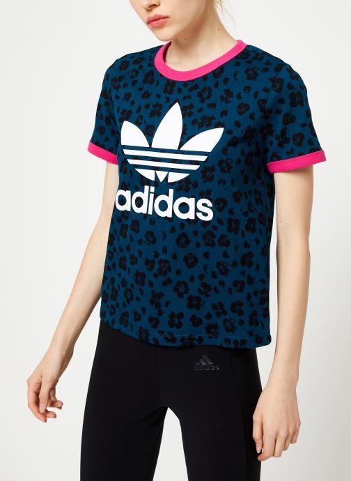 Vêtements adidas originals Aop Tee Bleu vue droite