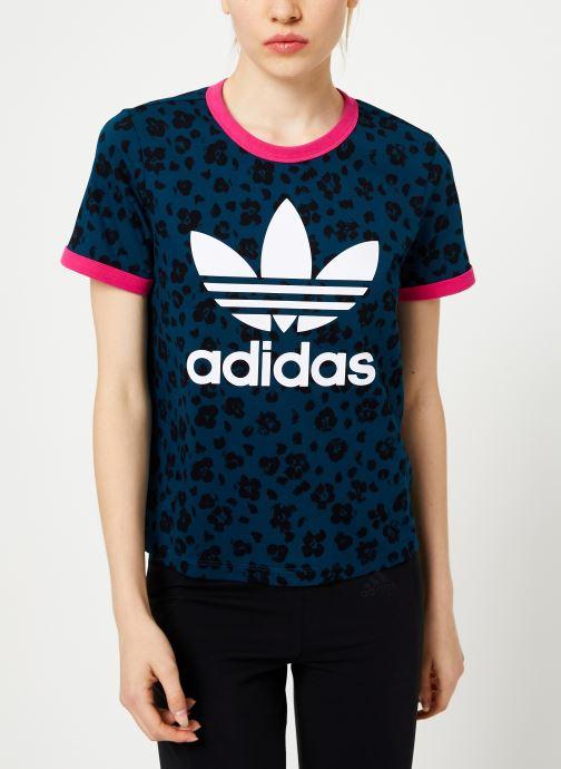 Vêtements adidas originals Aop Tee Bleu vue détail/paire