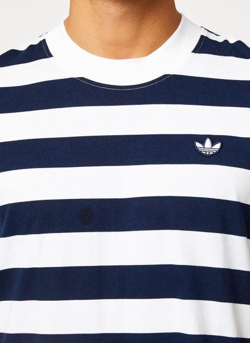 Vêtements adidas originals Stripe Tee Blanc vue face