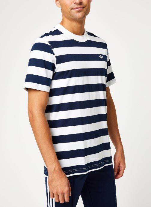Vêtements adidas originals Stripe Tee Blanc vue droite