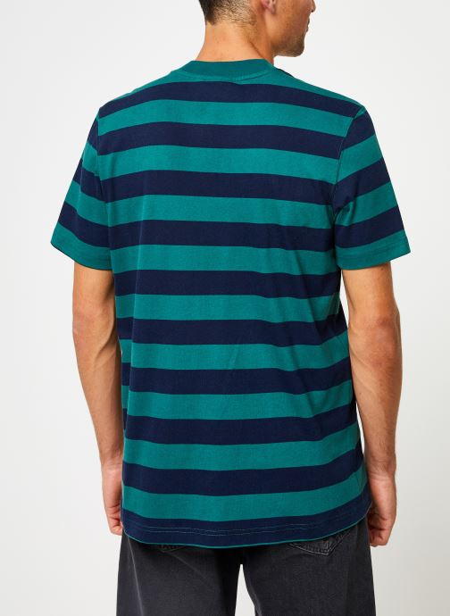 Vêtements adidas originals Stripe Tee Vert vue portées chaussures