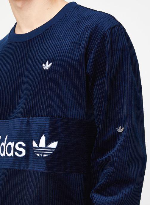Vêtements adidas originals Cord Sweatshirt Bleu vue face