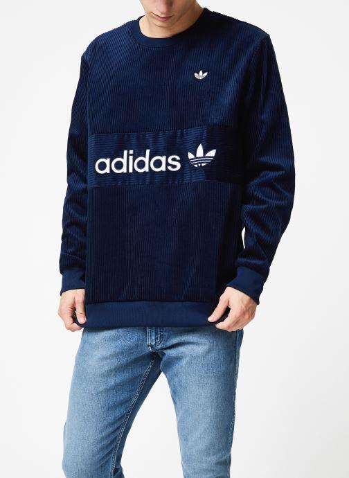 Vêtements adidas originals Cord Sweatshirt Bleu vue droite