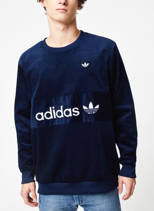 Vêtements adidas originals Cord Sweatshirt Bleu vue détail/paire