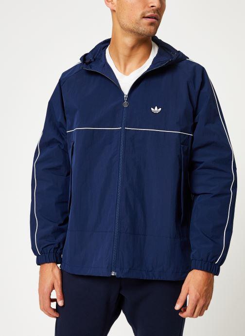 Vêtements adidas originals Shell Jacket Bleu vue droite