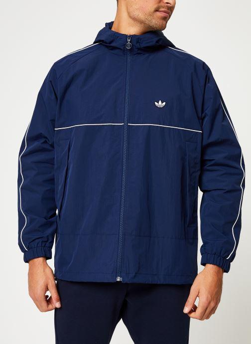 Vêtements adidas originals Shell Jacket Bleu vue détail/paire