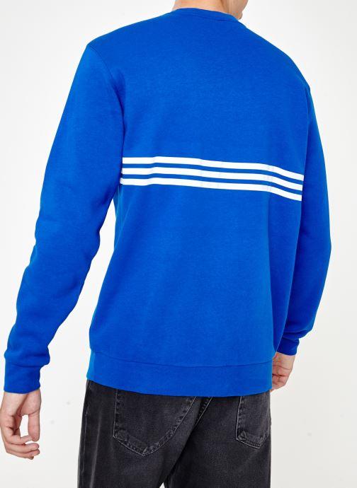 Kleding adidas originals Outline Crw Flc Blauw model