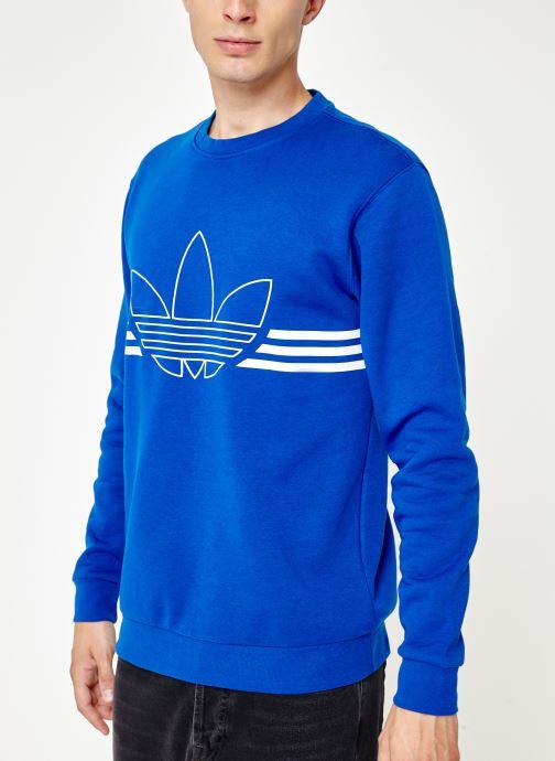 Kleding adidas originals Outline Crw Flc Blauw rechts