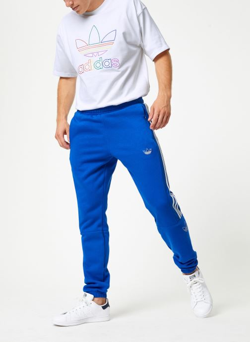 Vêtements adidas originals Outline Sp Flc Bleu vue bas / vue portée sac