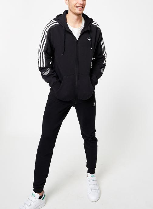 Vêtements adidas originals Outline Fzh Flc Noir vue bas / vue portée sac