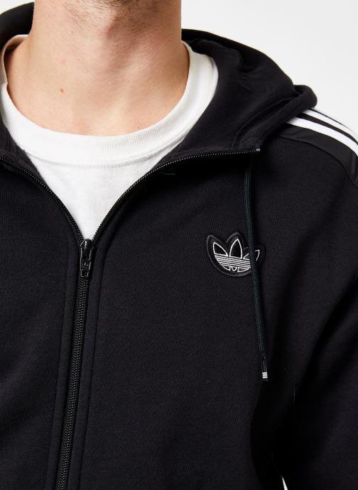 Vêtements adidas originals Outline Fzh Flc Noir vue face
