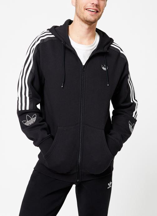Vêtements adidas originals Outline Fzh Flc Noir vue droite