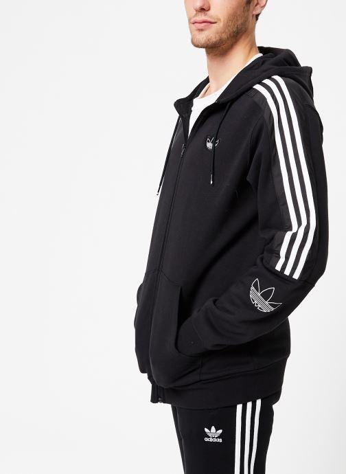 Vêtements adidas originals Outline Fzh Flc Noir vue détail/paire