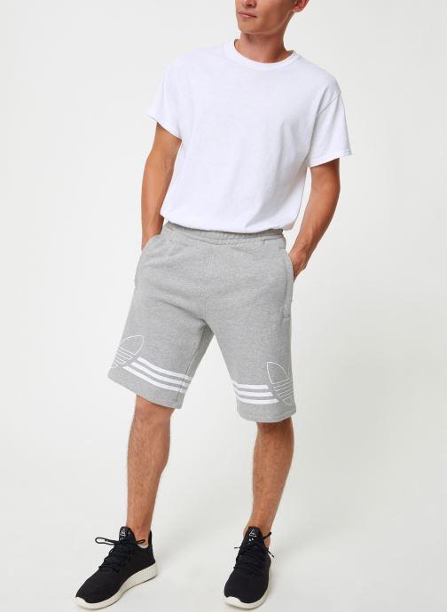 Vêtements adidas originals Outline Trf Sh Gris vue bas / vue portée sac