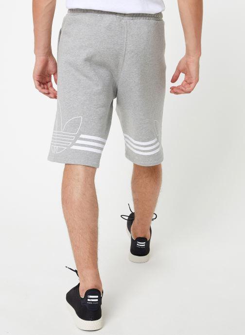 Vêtements adidas originals Outline Trf Sh Gris vue portées chaussures
