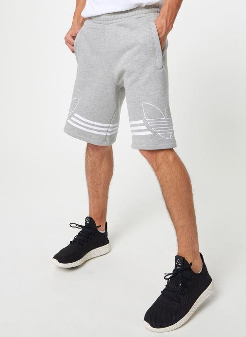 Vêtements adidas originals Outline Trf Sh Gris vue détail/paire