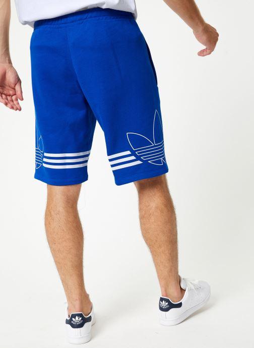 Vêtements adidas originals Outline Trf Sh Bleu vue portées chaussures