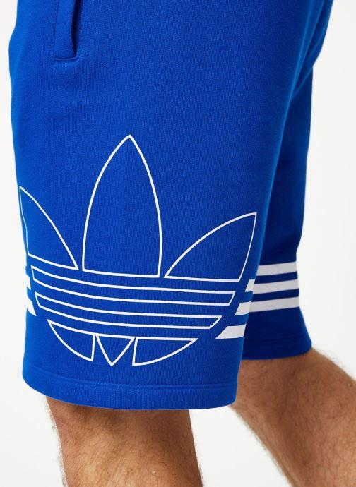 Kleding adidas originals Outline Trf Sh Blauw voorkant