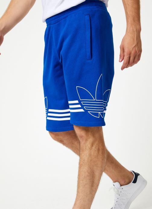 Vêtements adidas originals Outline Trf Sh Bleu vue détail/paire