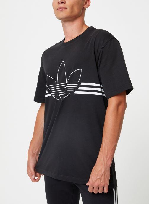 Kleding adidas originals Outline Trf Tee Zwart onder