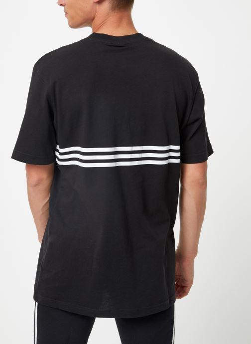 Kleding adidas originals Outline Trf Tee Zwart rechts