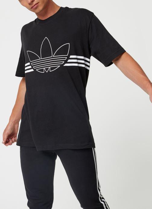 Kleding adidas originals Outline Trf Tee Zwart detail