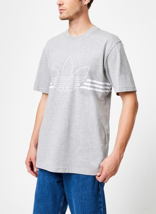 Kleding adidas originals Outline Trf Tee Grijs detail