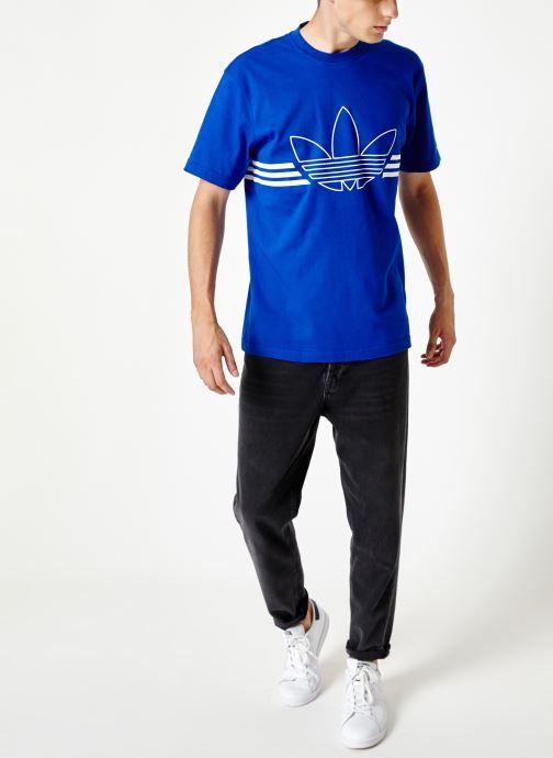 Kleding adidas originals Outline Trf Tee Blauw onder